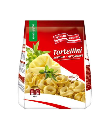 Makaron Tortellini serowo-grzybowe Opakowanie jednostkowe: 250g Ilość wkartonie: 20 szt. / 5 kg
